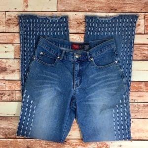 Denim - boho flare wide leg hippie hipster jeans size 7